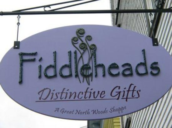 Colebrook, New Hampshire: Fiddleheads Store Sign, Colebrook, NH