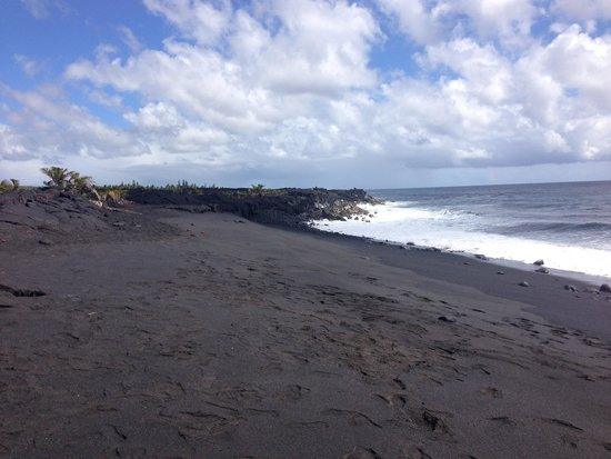 Legends Of Hawaii Tours Black Sand Beach At Kalapana