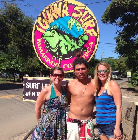 "Iguana Surf: Thanks David ""Bimbo"" for teaching is to catch some waves!"