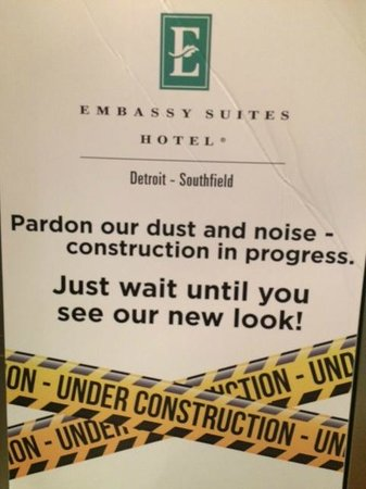 Embassy Suites by Hilton Detroit Southfield: The signs to reassure guests.