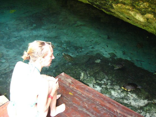 Uolis Nah: Grande Cenote (easy swim) Fun !