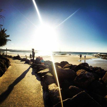 Kirra beach. Point do Surf.