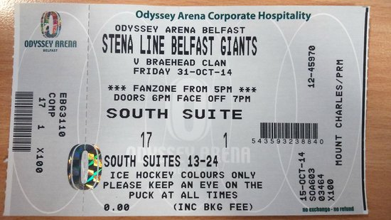 The SSE Arena: My First Giants Game!