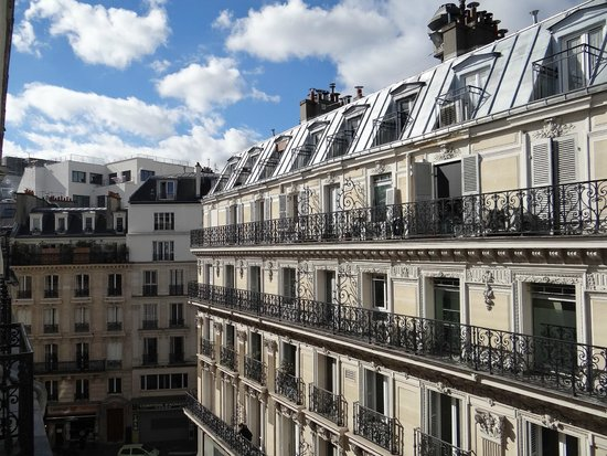 view from our room on the fifth floor picture of hotel eugene en ville paris tripadvisor. Black Bedroom Furniture Sets. Home Design Ideas