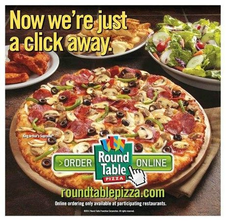 Were Just A Click Away Picture Of Round Table Pizza Felton - Round table pizza delivery near me