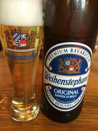 Weihenstephan: 試飲用グラスはもらえます。いい記念になりますよ
