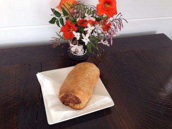 1904 Cafe: Pork Sausage roll, jumbo size, big in taste!