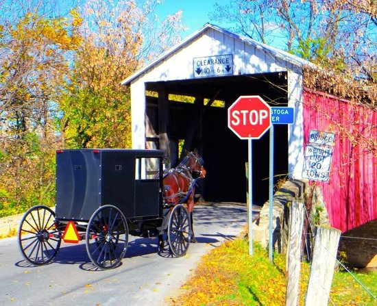 Akron, PA: Nearby covered bridge