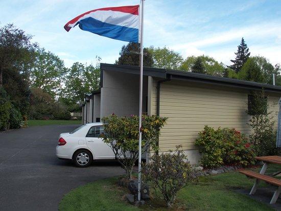 Judges Pool Motel : Kamer met de vlag in top