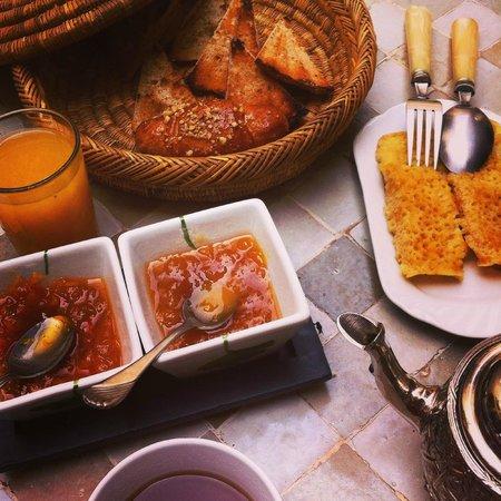 Ryad Dar El Hana: Petit déjeuner...