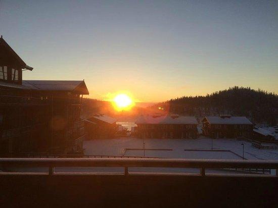 Norefjell Ski & Spa: Sunrice from the room