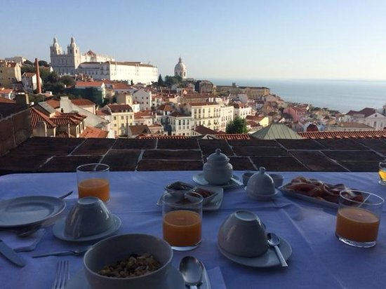 Palacio Belmonte: Breakfast in the garden terrasse