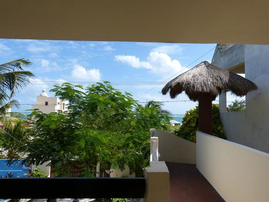 Cabanas Puerto Morelos: View from outside Room #4