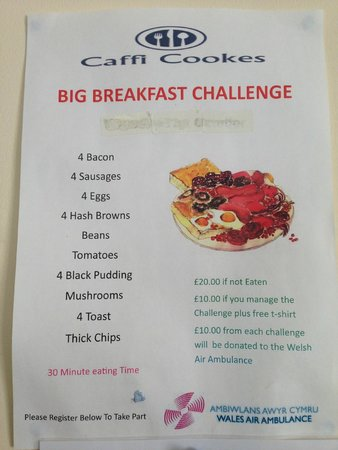 Caffi Cookes Cafe: Breakfast challenge