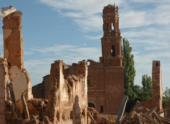Belchite, Spain: Ajacent to Acete Del Bajo Aragon