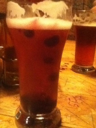 Pump House : Homemade Bluberry Ale, (My personal Favorite!)