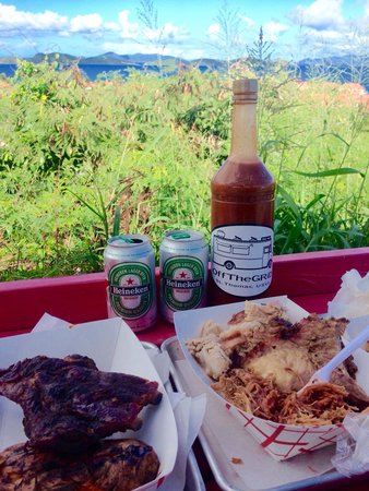 OffTheGRiD : All you can eat meat Sunday special with unique home made meat sauce and killer view!