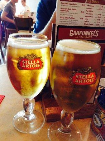 Garfunkel's: A beer at Garfunke's Gatwick Airport
