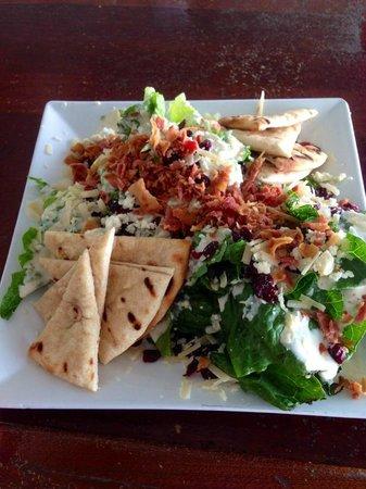 La Playita: salad from on-site restaurant