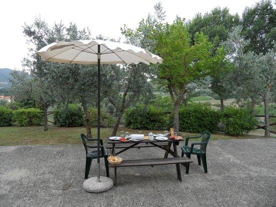 Le Capanne Agriturismo: The terrace