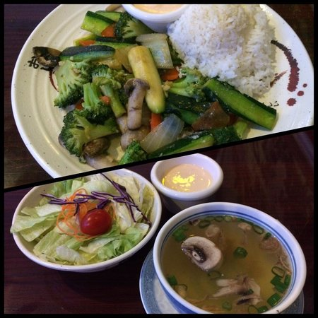 Lunch Hibachi Vegetable With House Soup And Salad