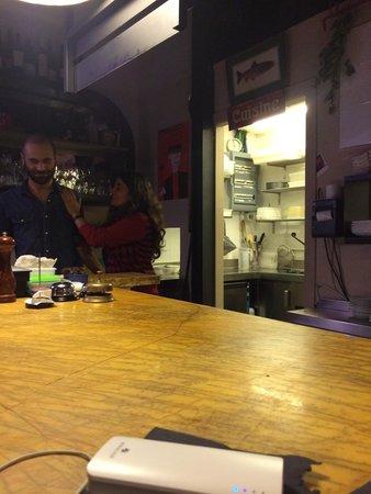 Nice bar man and woman