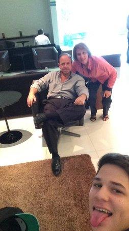 Hotel Express Vieiralves: no lobby do hotel….
