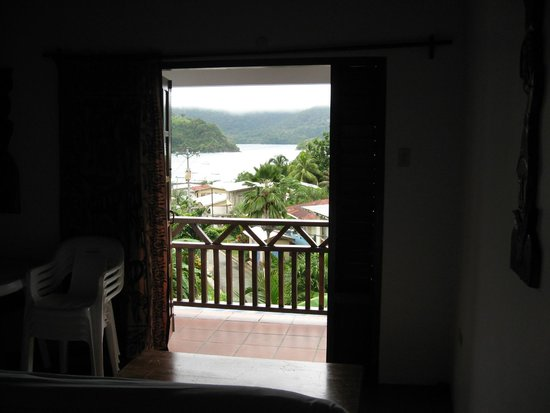 Top River Pearl: View from 2 bedroom apartment couch