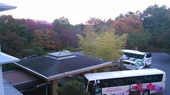 Joshinnosato Hibikino: Front of the hotel viewed from our room