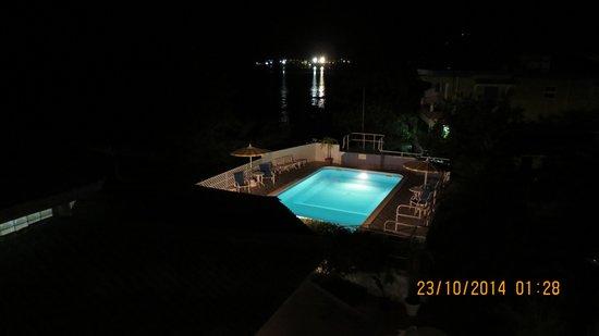 Evergreen Hotel : Blick vom Balkon