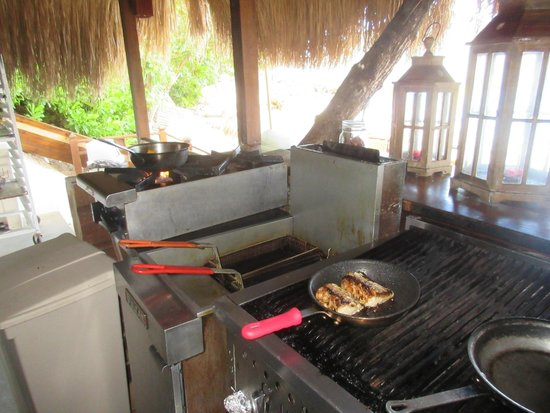 Cap Estate, Saint Lucia: fresh mahi mahi on the grill