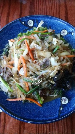 Chap chae noodle dish picture of asiana asian cuisine for Asiana korean cuisine restaurant racine