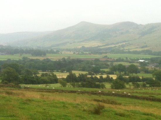 England, UK: Edale lurks in the mist