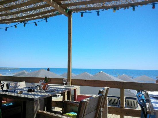 La Playa : La vue depuis la partie restaurant