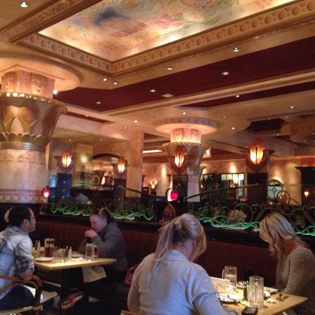 The Cheesecake Factory: View toward the mall from inside.