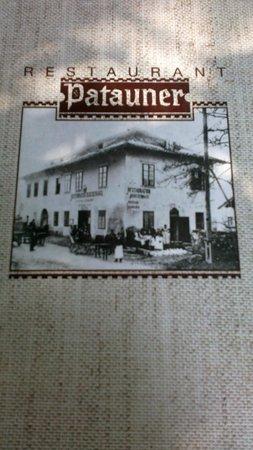 Patauner: Меню