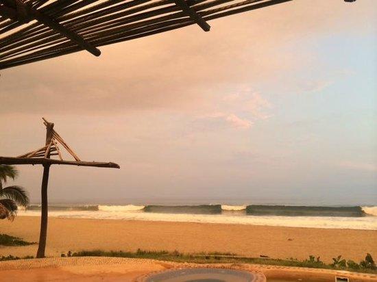 Playa Viva: Sunset View from Terrace