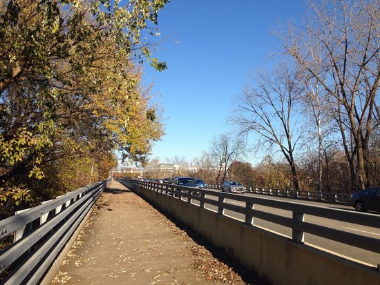 People Trails: Bridge over the river in Columbus