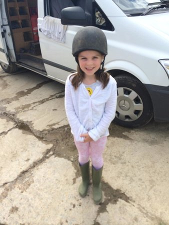 Woolacombe Riding Stables: My Isobel all ready for her ride