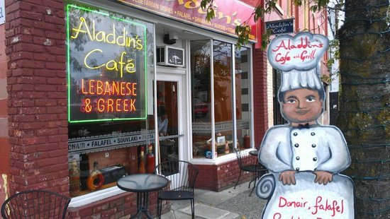 Aladdins: It's a neat place, even from the outside.