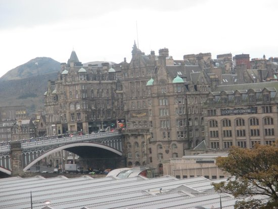 The Old Waverley Hotel: view of north bridge from our window
