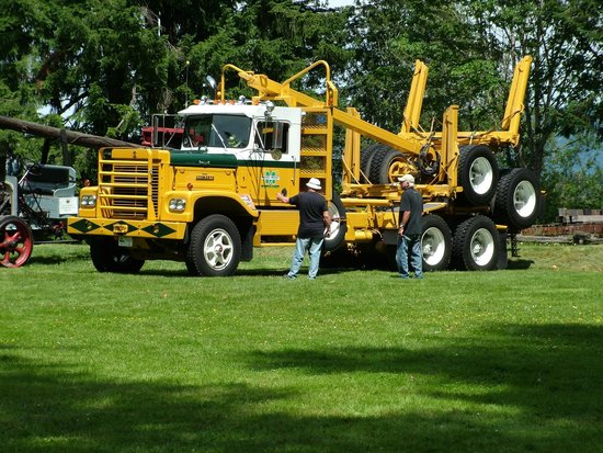 B.C. Forest Discovery Centre: A Pacific logging truck visits on father's day