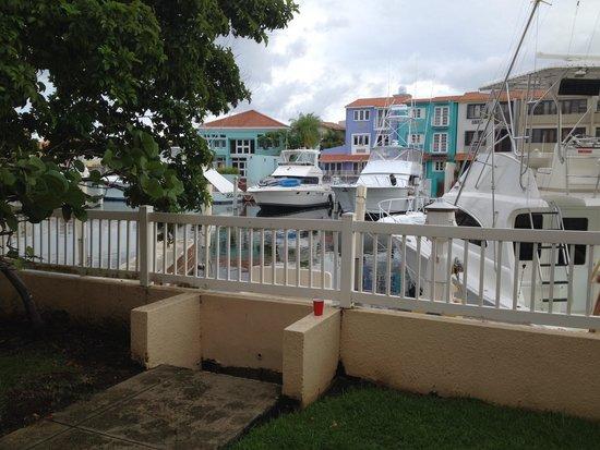 Park Royal Puerto Rico at Club Cala: Looking at beautiful boats out our bedroom door