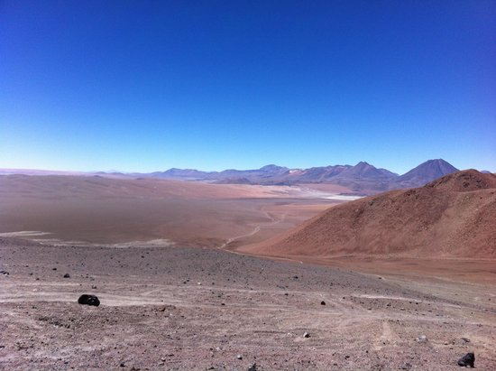 Lascar Volcano: View from the summit of Lascar to the east