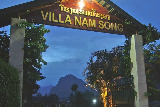 Villa Nam Song Vang Vieng: Hotel Entrance