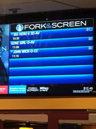 Fork & Screen at AMC Theaters