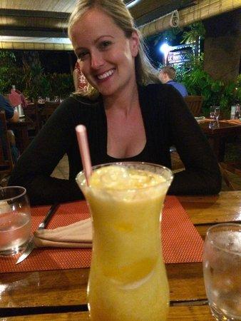 Le Mahogany: Fresh Pineapple Juice! Amazing!