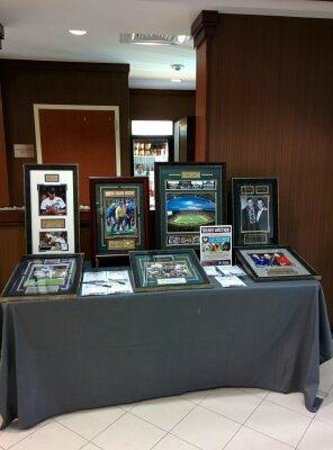 Fairfield Inn & Suites by Marriott Waco North: Some memorabilia on display during homecoming weekend
