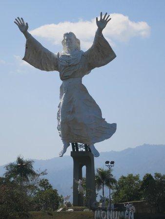 Aryaduta Manado: Christ statue in Citraland park.