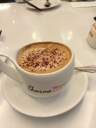 ShangHaiGang Li Restaurant (Hong Yi Dian): The hot Capuccino (good size, good taste)